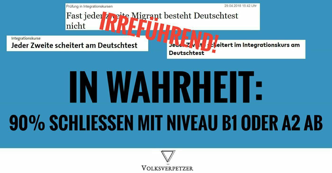 90% bestehen Deutschkurse - Wie deutsche Medien Zuwanderer negativ ...