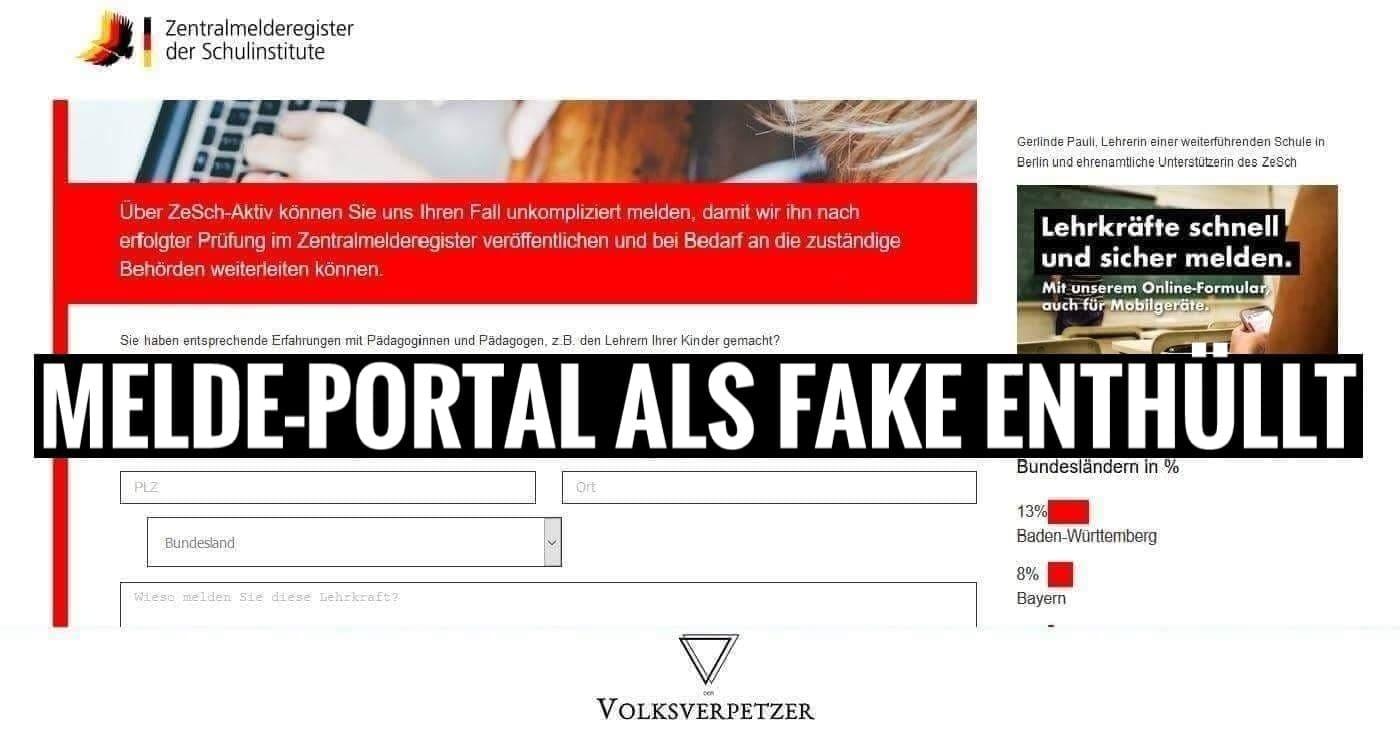 Enthüllt Melde Portal Für Rechte Lehrerinnen Ist Fake Volksverpetzer