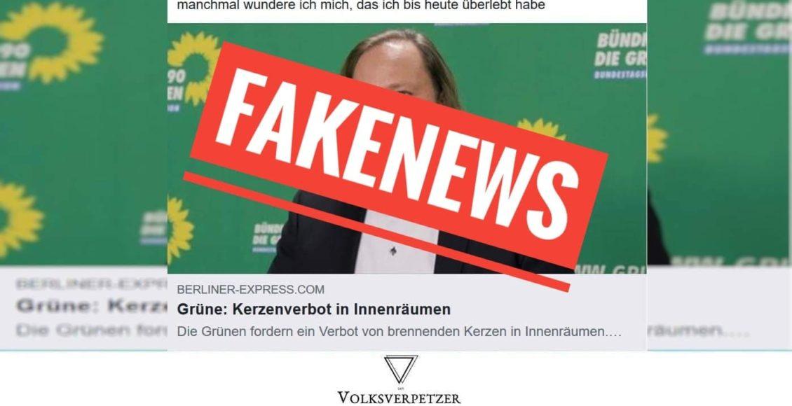 Rechte Fake News Grüne Fordern Kein Kerzenverbot Volksverpetzer