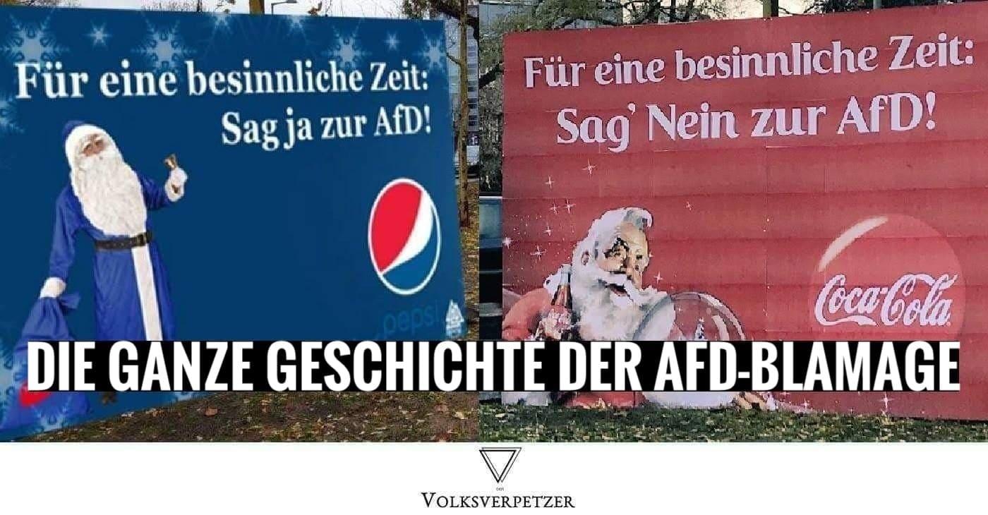 Coca Cola Werbung Weihnachten.Pepsi Coca Cola Die Ganze Geschichte Der Afd Blamage