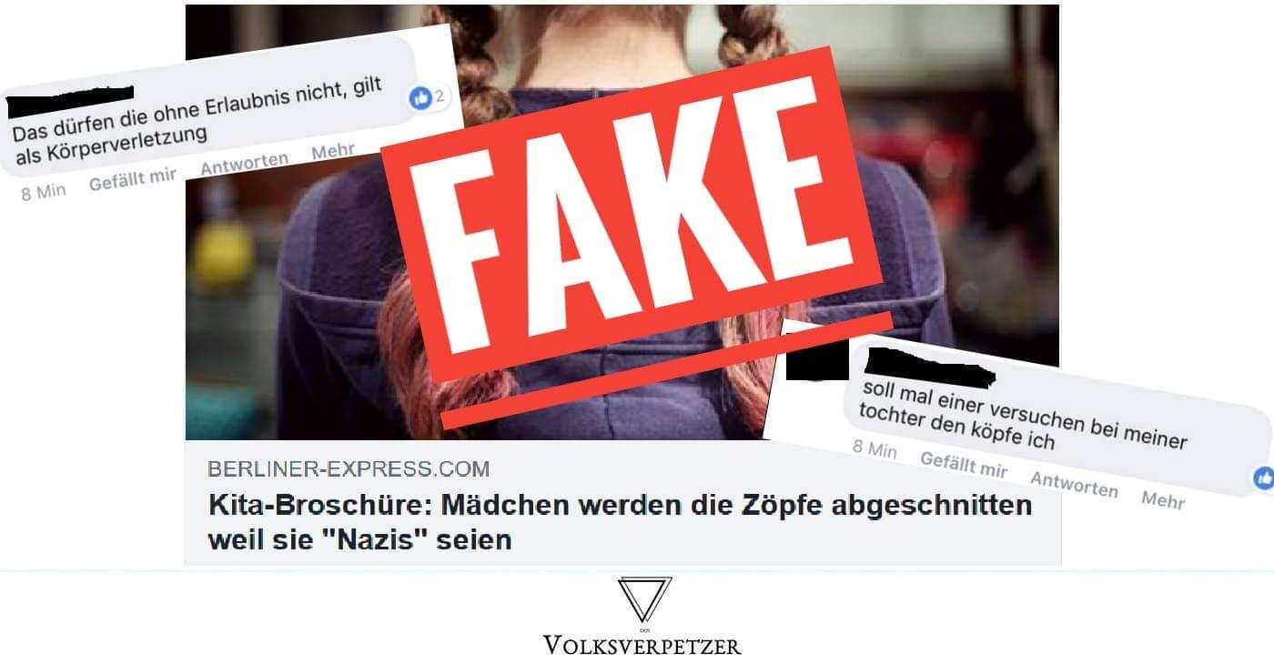 Fake News über Fake News Kita Broschüre Fake Artet Aus