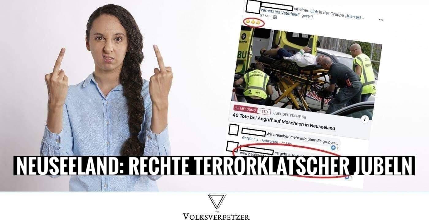 Neuseeland Anschlag Picture: Islamfeindliche Terrorklatscher Tragen Mitschuld Am