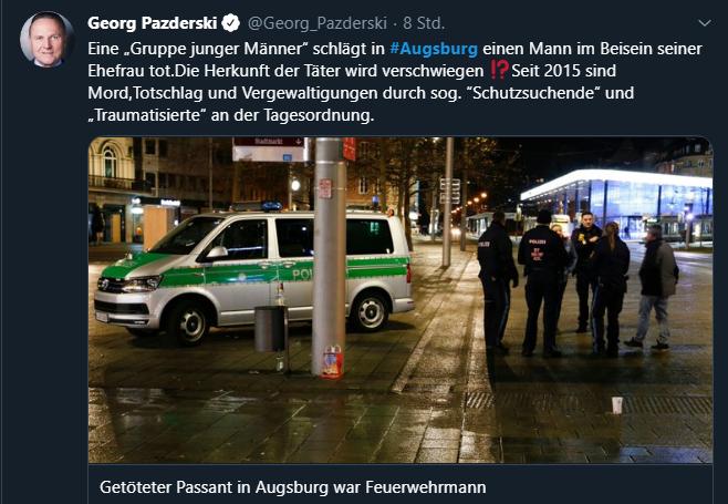 Augsburg Täter Nationalität